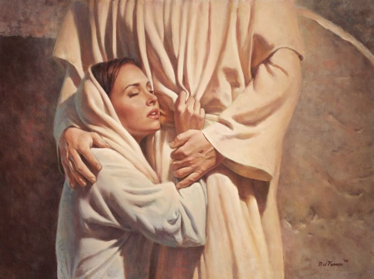 Mary and risen Jesus